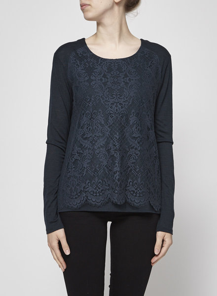 The Kooples EMERALD GREEN LACE TOP
