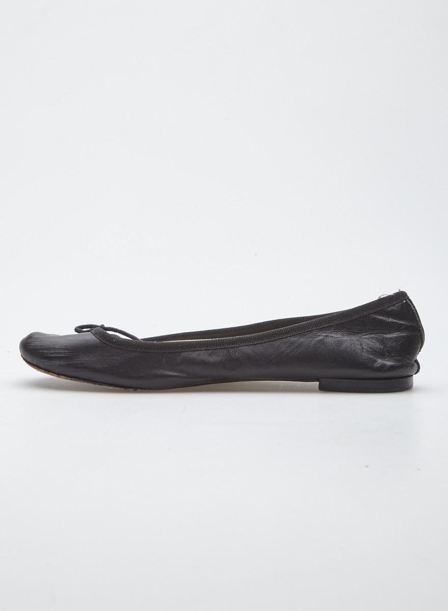 Repetto Black Leather Ballerinas