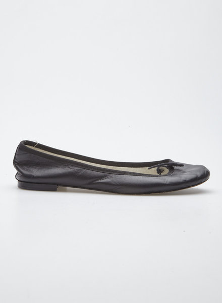 Repetto BLACK LEATHER BALLERINAS