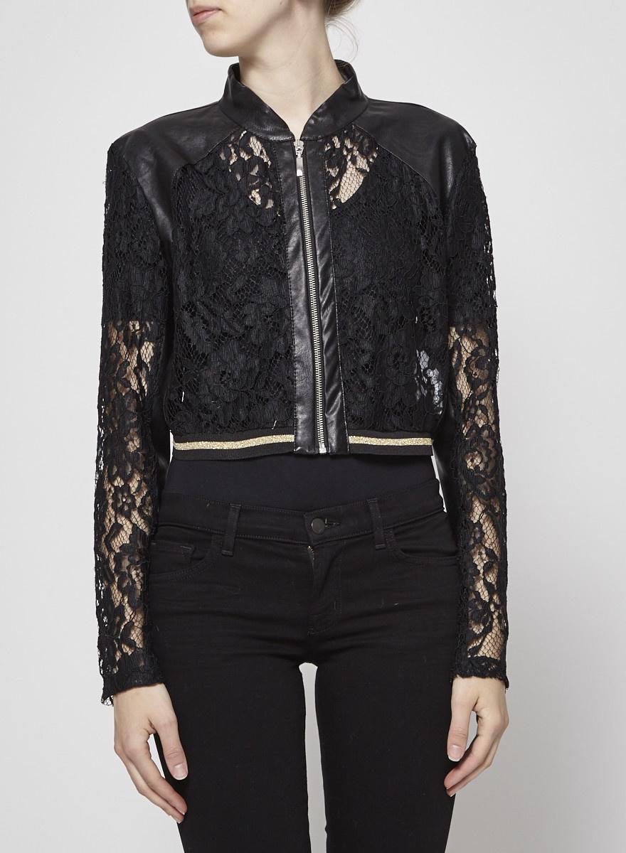 Rinascimento Laced Crop Black Jacket - New