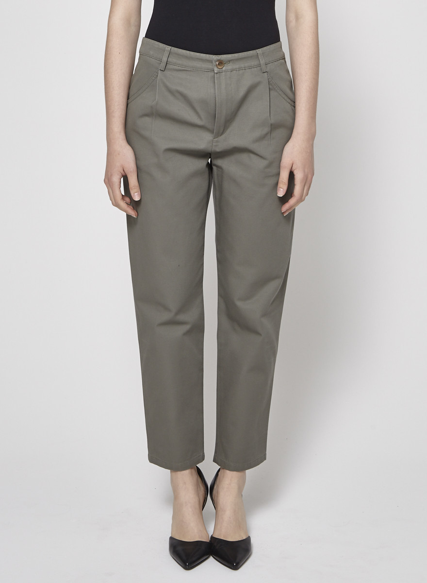 A.P.C. Cropped Khaki Pants