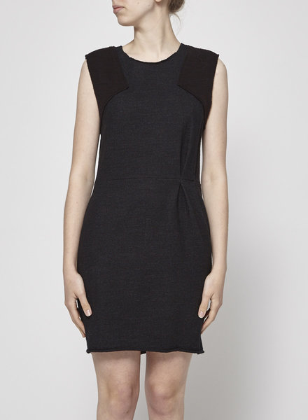 Maje GRAY CHARCOAL FITTED DRESS
