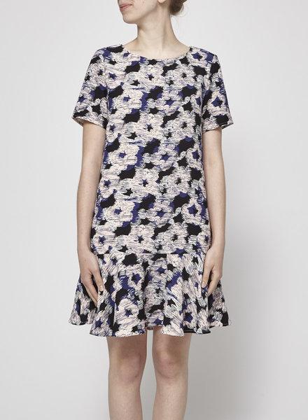 Suncoo CONSTANCE BLACK, PURPLE & PINK FLOWER-PRINT DRESS