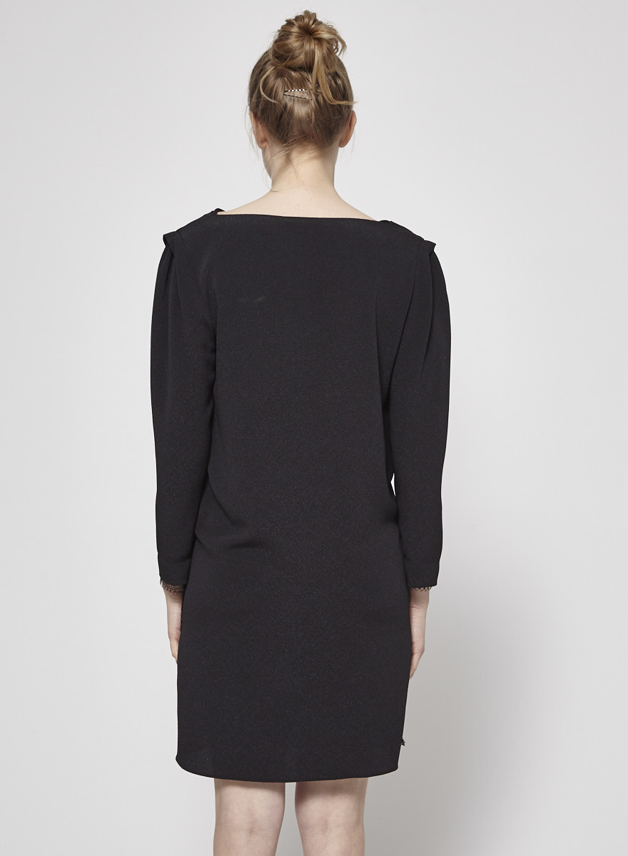 Vanessa Bruno BLACK DRESS WITH LACE DETAIL