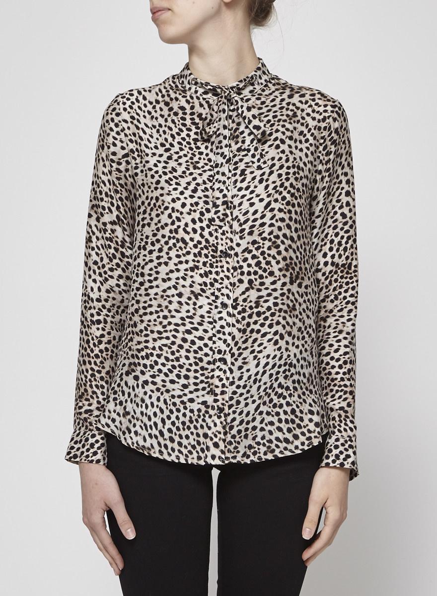 Anine Bing Silk Jaguar Blouse