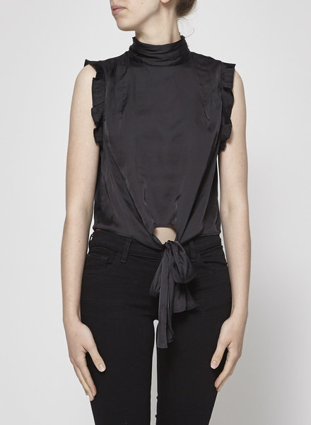 Chan Luu BLACK KNOTTED BLOUSE