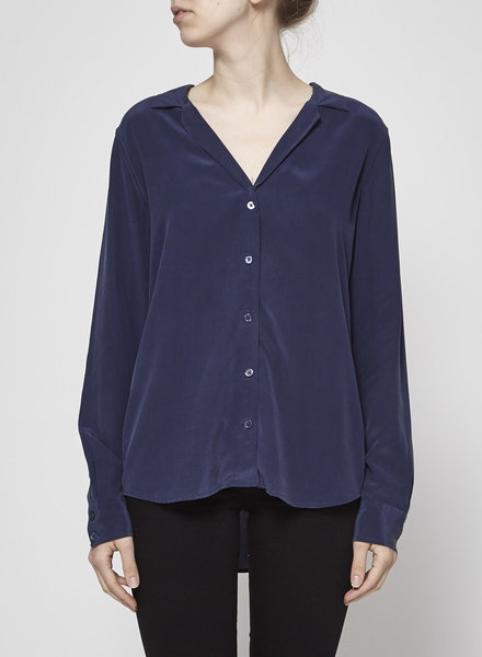 Equipment NAVY SILK SHIRT
