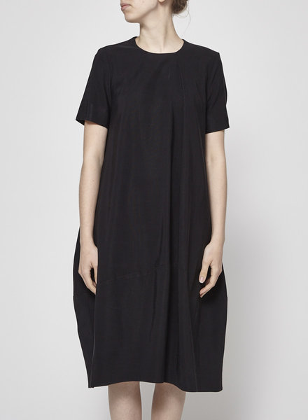 COS BLACK LOOSE MIDI DRESS