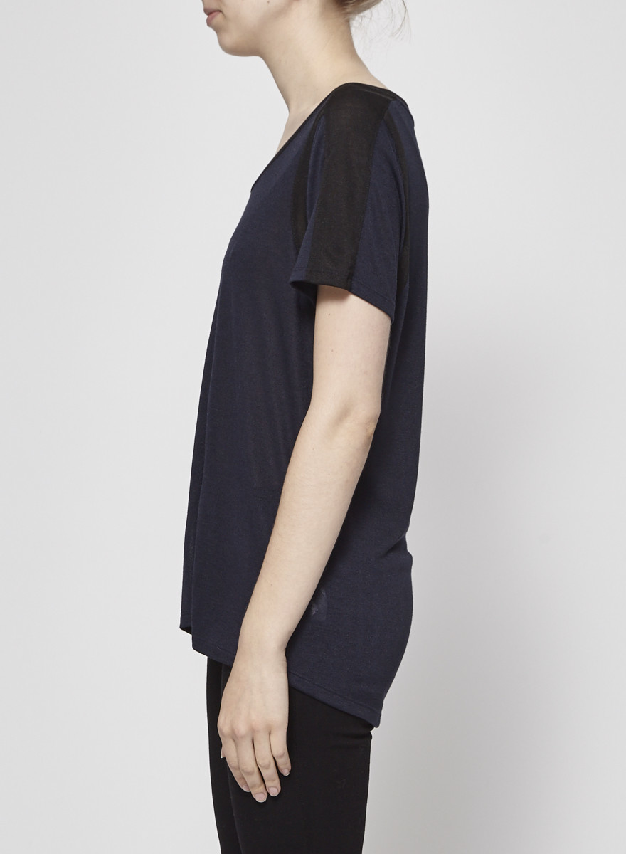 Vince Navy and Black T-Shirt