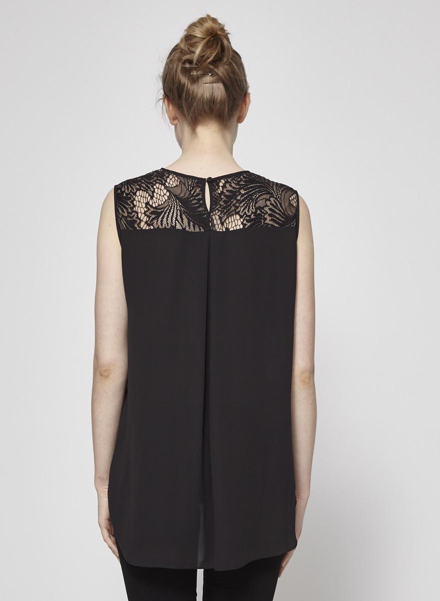 BCBG Max Azria Camisole noire détails en dentelle - neuve