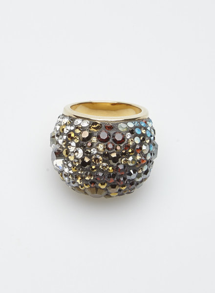 Swarovski GOLD COLORFUL SWAROVSKI STONES RING