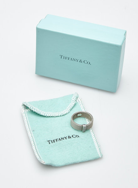 Tiffany & Co. BAGUE EN ARGENT STERLING PETITS DIAMANTS