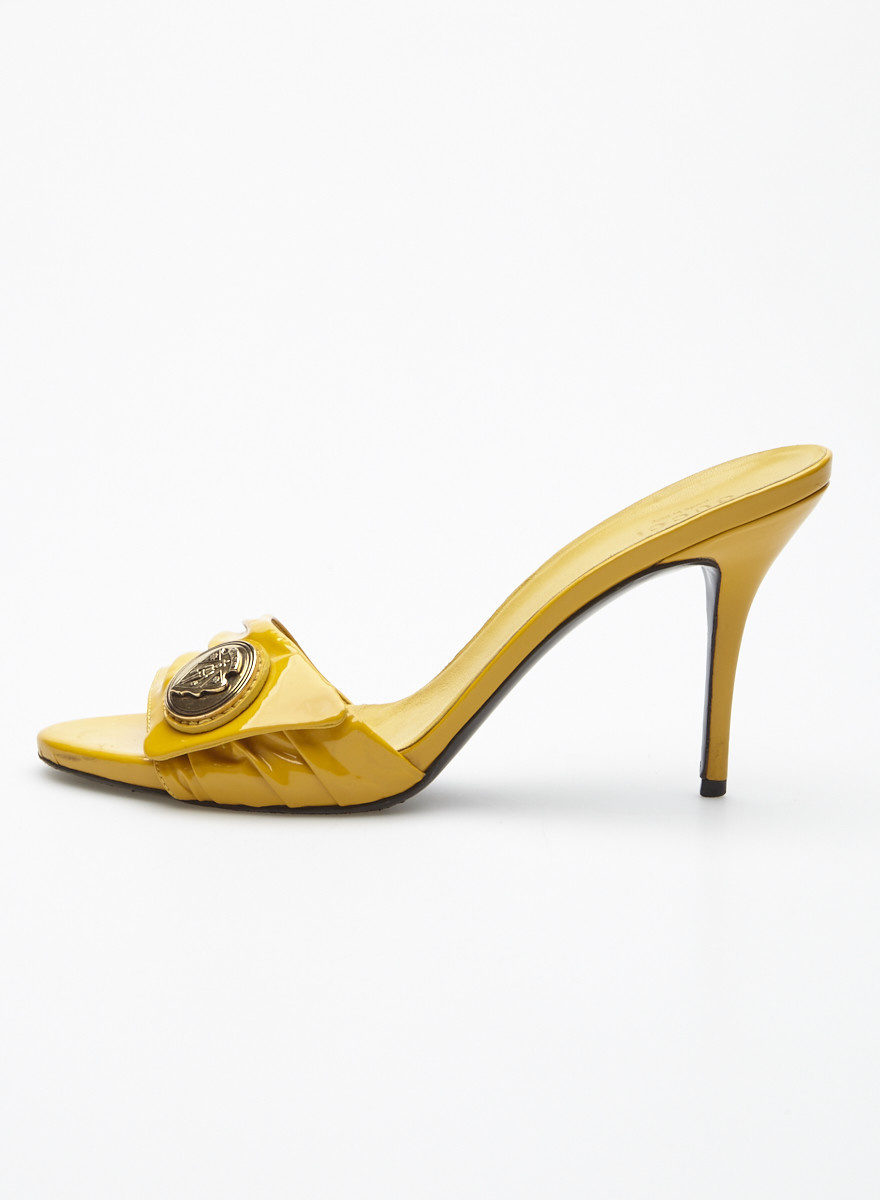 Gucci Yellow Leather Sandals
