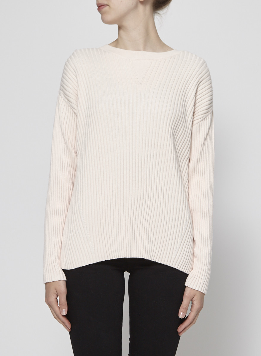 J Brand PINK COTTON & CASHMERE TIFFANY SWEATER - NEW WITH TAG
