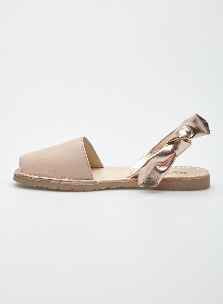 Solillas Pink Leather Sandals - New