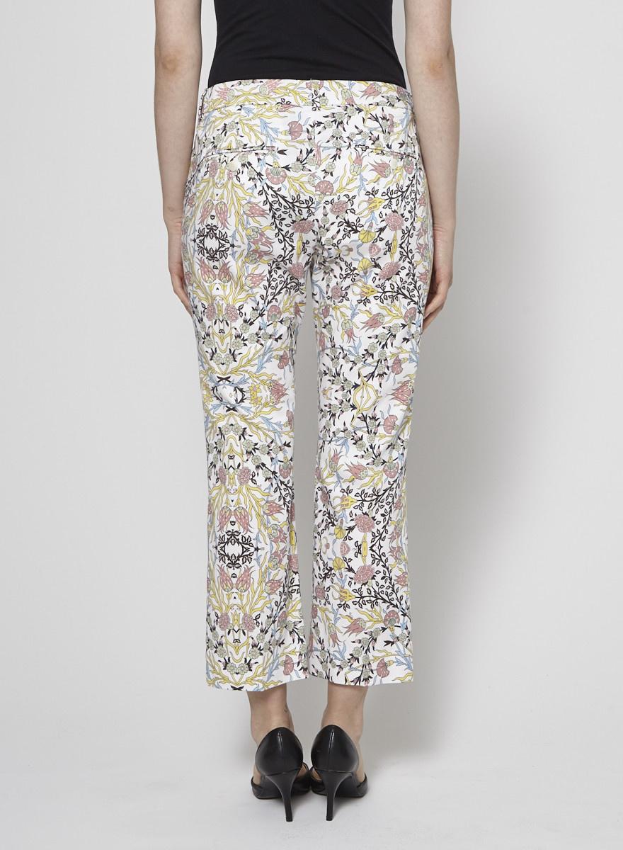 Weekend Max Mara Floral-Print Cotton Pants