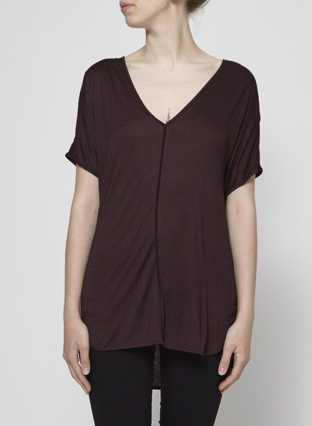 T by Alexander Wang BURGUNDY T-SHIRT