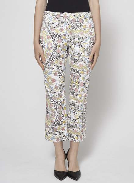 Weekend Max Mara FLORAL-PRINT COTTON PANTS