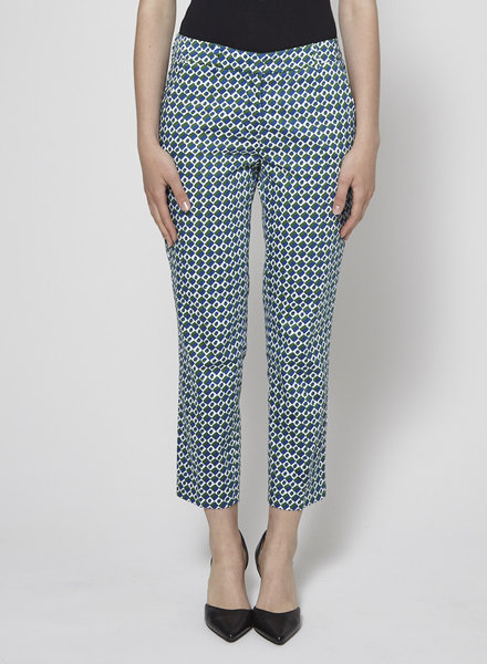 Weekend Max Mara BLUE AND GREEN PRINTED PANTS