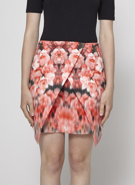 Finders Keepers RED FLORAL-PRINT SKIRT