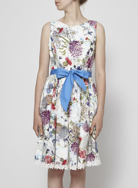 Marie Dooley Signature WHITE FLORAL DRESS