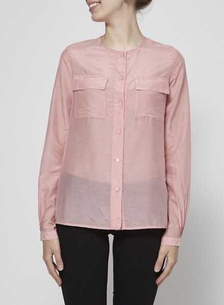 J Brand SHEER PINK SHIRT - NEW