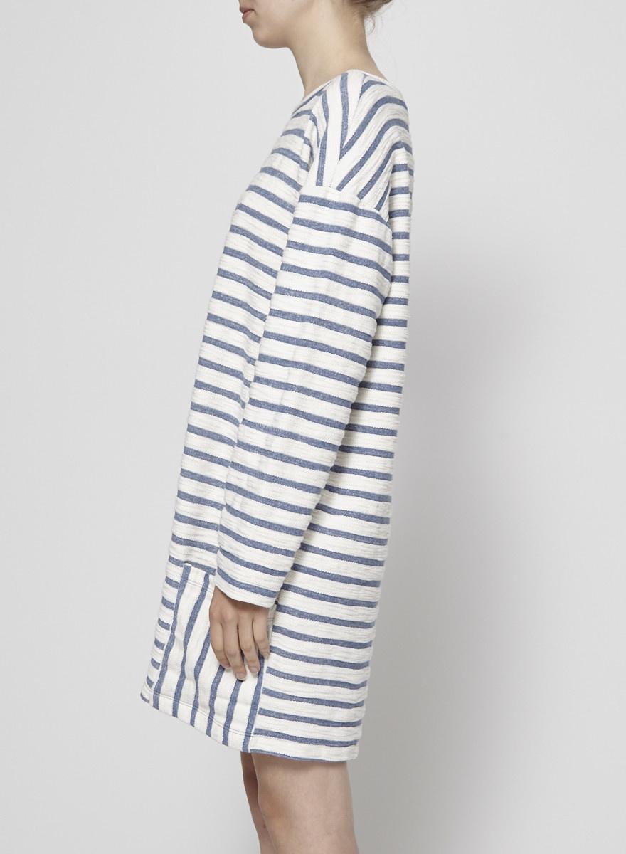 """Sam & Lavi Robe rayée """"Dala"""" bleu et blanc - Neuve"""