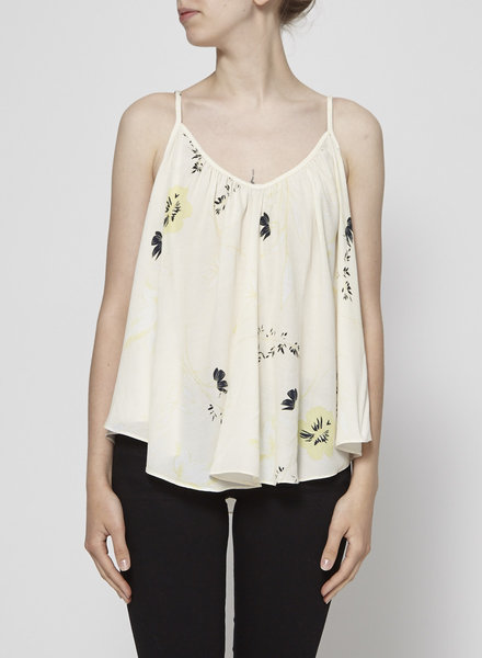 Sam & Lavi YELLOW FLOWERS BEIGE CAMISOLE - NEW