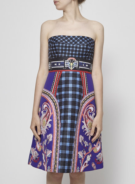 Mary Katrantzou STRAPLESS PRINTED DRESS
