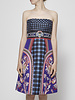 Mary Katrantzou Strapless Printed Dress