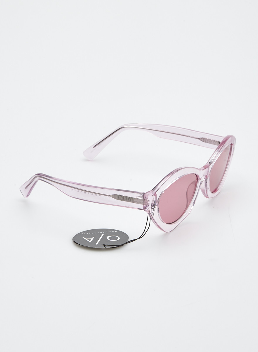 Quay Australia Pink-tinted Clear Sunglasses