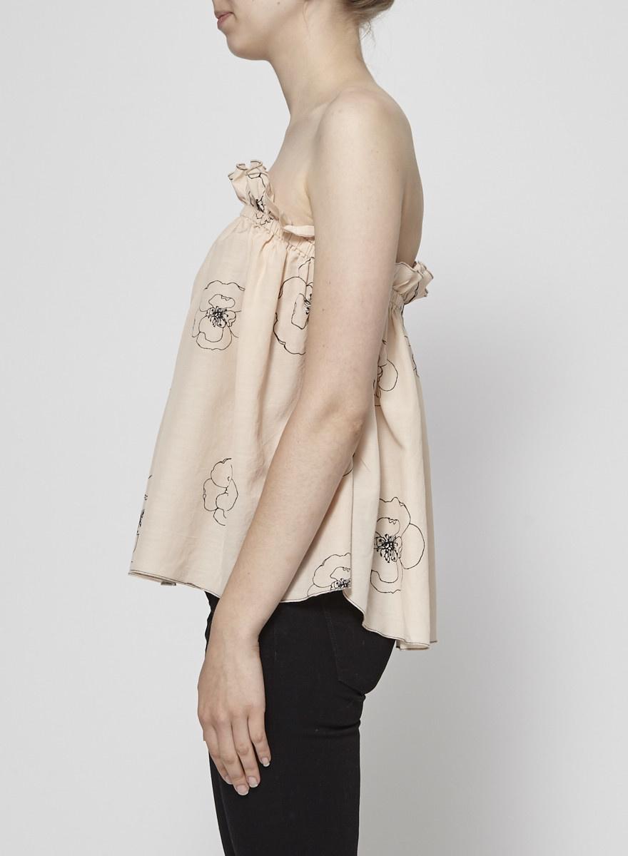 Sam & Lavi Peach Bare Shoulders Top - New