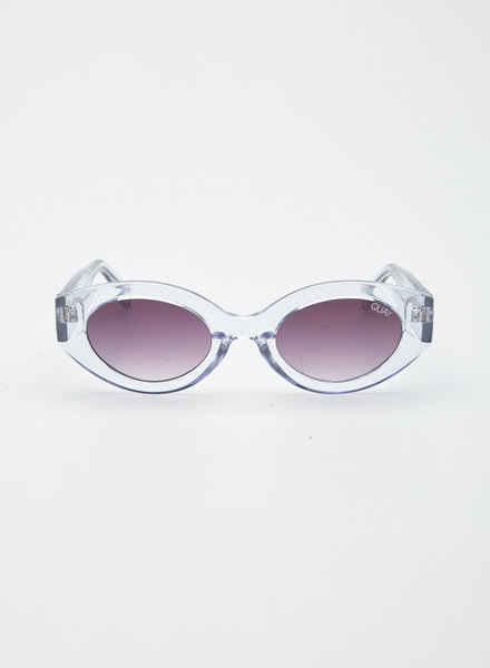 Quay Australia PURPLE-TINTED CLEAR SUNGLASSES