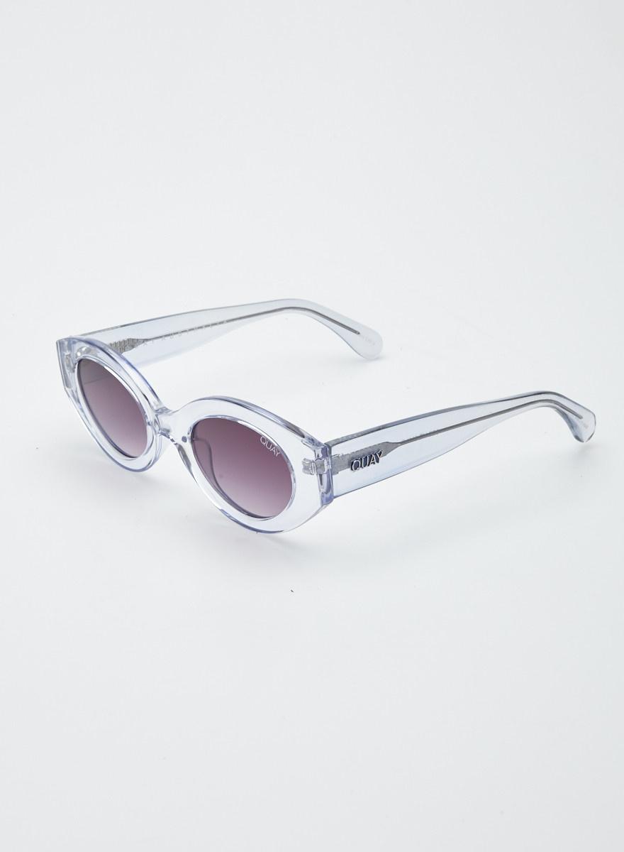 Quay Australia Purple-tinted Clear Sunglasses