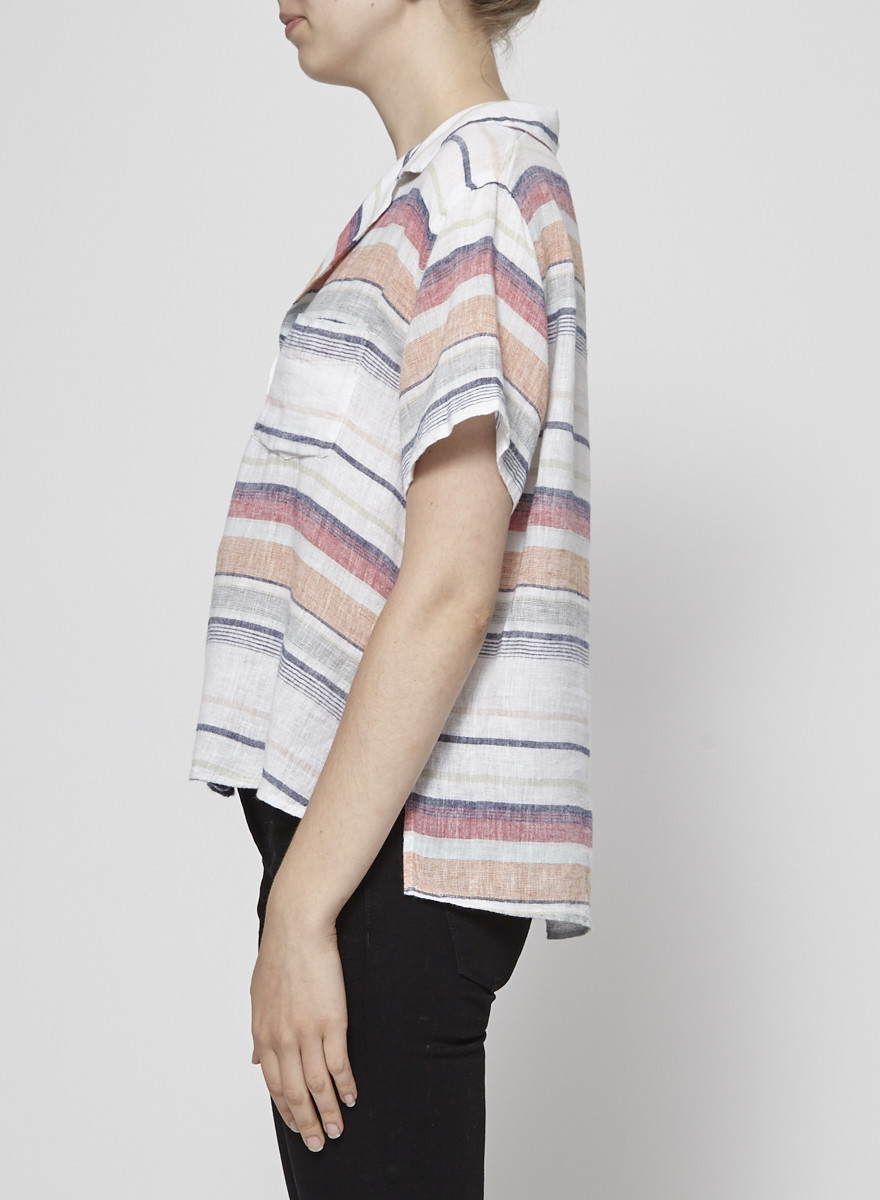 Rails Chemise à manches courtes rayée multicolore - Neuve