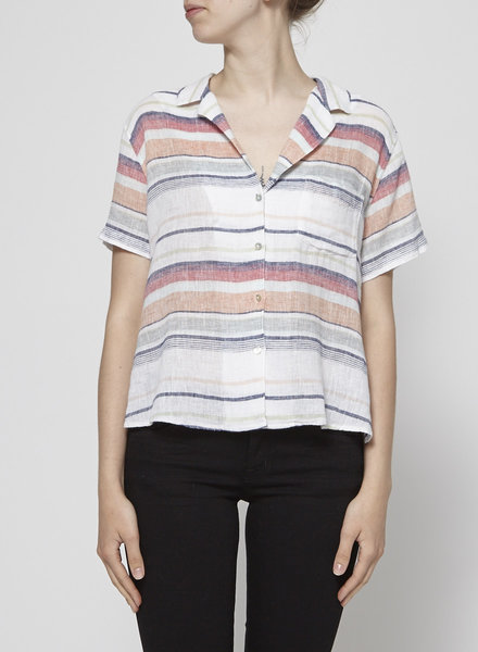 Rails MULTICOLORED STRIPED SHORT-SLEEVE SHIRT - NEW