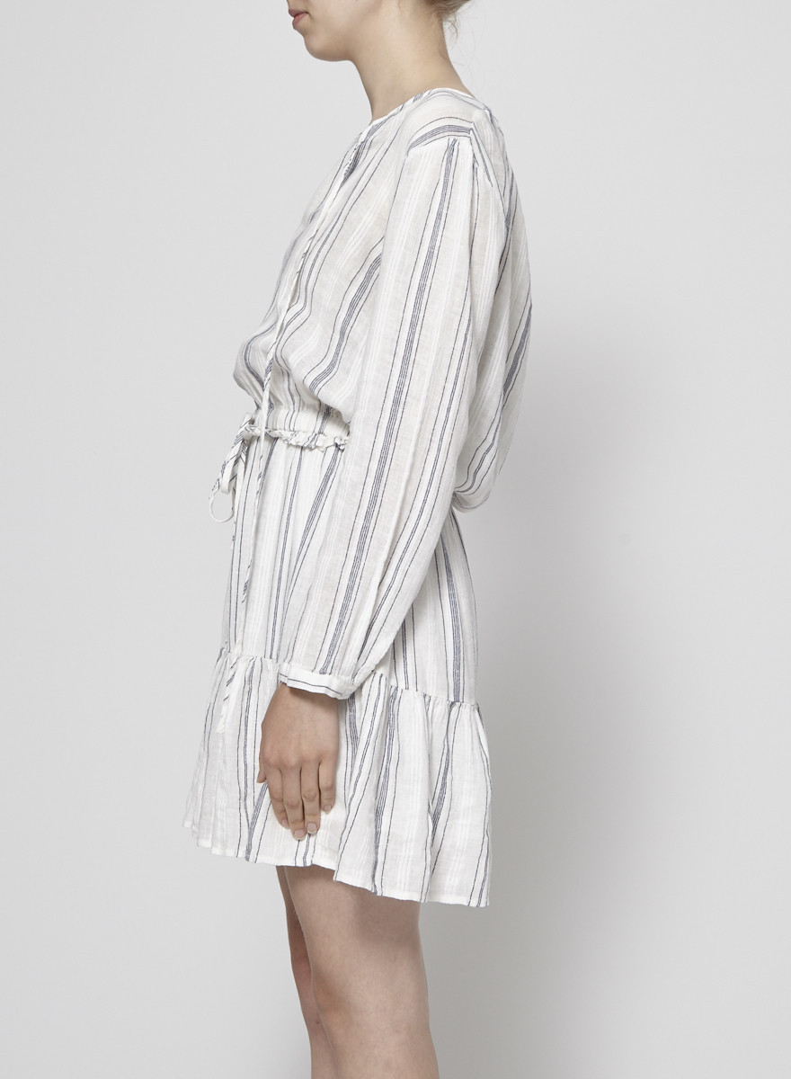 "Rails Robe ""Layla"" rayée blanc et marine - Neuve"