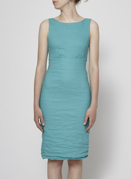 Nicole Miller TURQUOISE DRESS WITH BOW