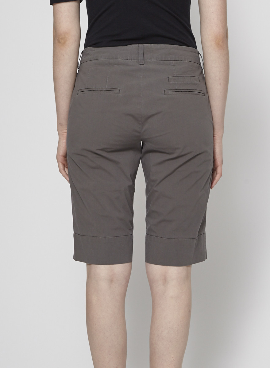 Cambio Dark-Gray Bermuda Shorts