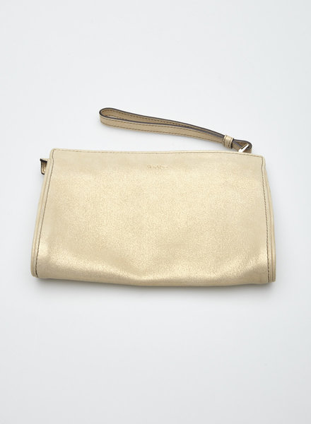 MaxMara GOLDEN SUEDE CLUTCH