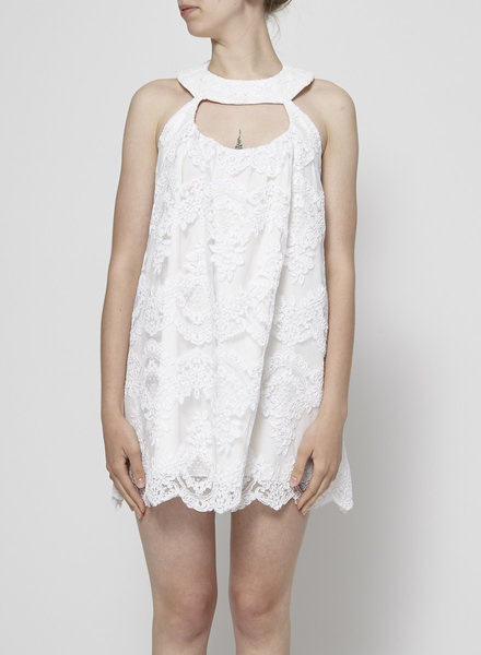 Morales WHITE LACE DRESS