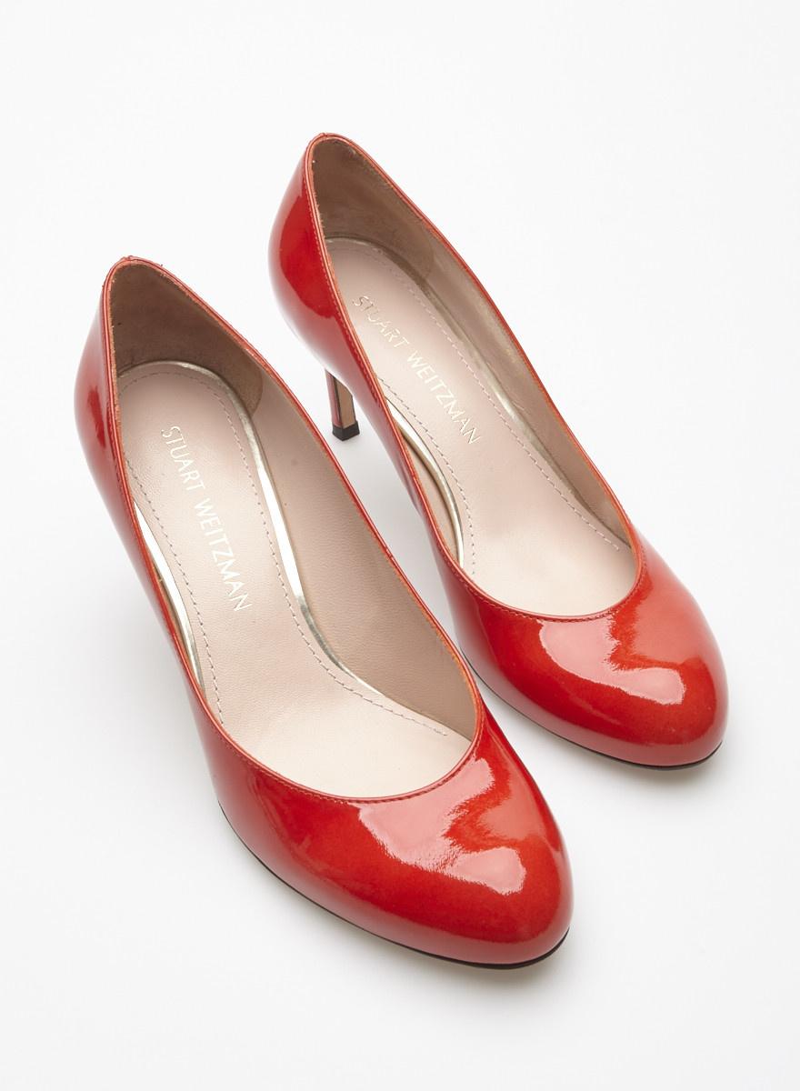 Verni En Chaussures Stuart Weitzman Cuir Rouge P80knwO