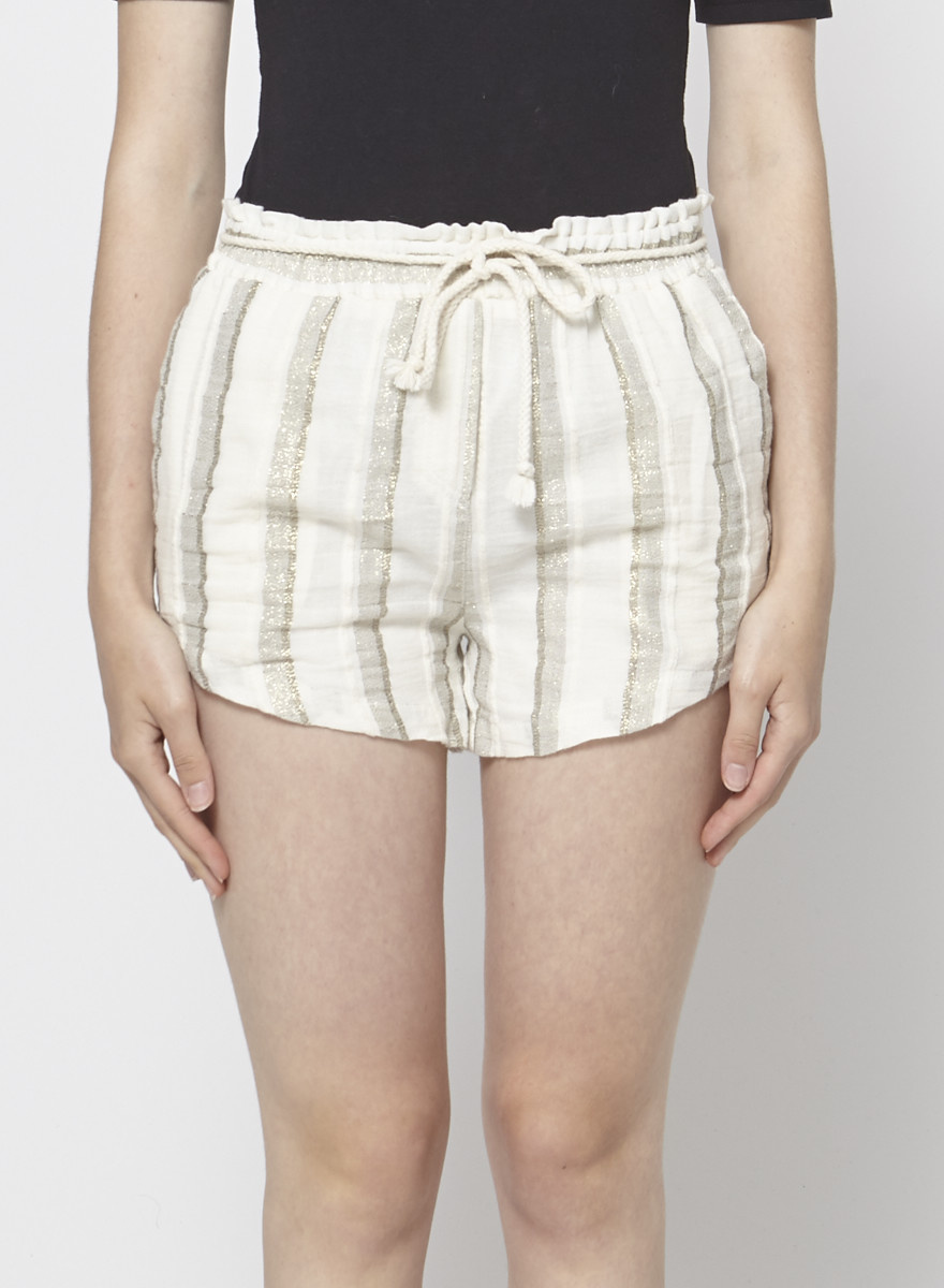 My Sunday Morning GOLD STRIPED OFF-WHITE SHORT