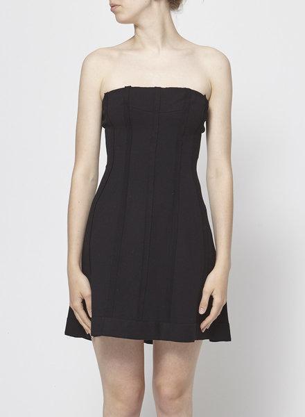 Marie Saint Pierre STRAPLESS BLACK DRESS
