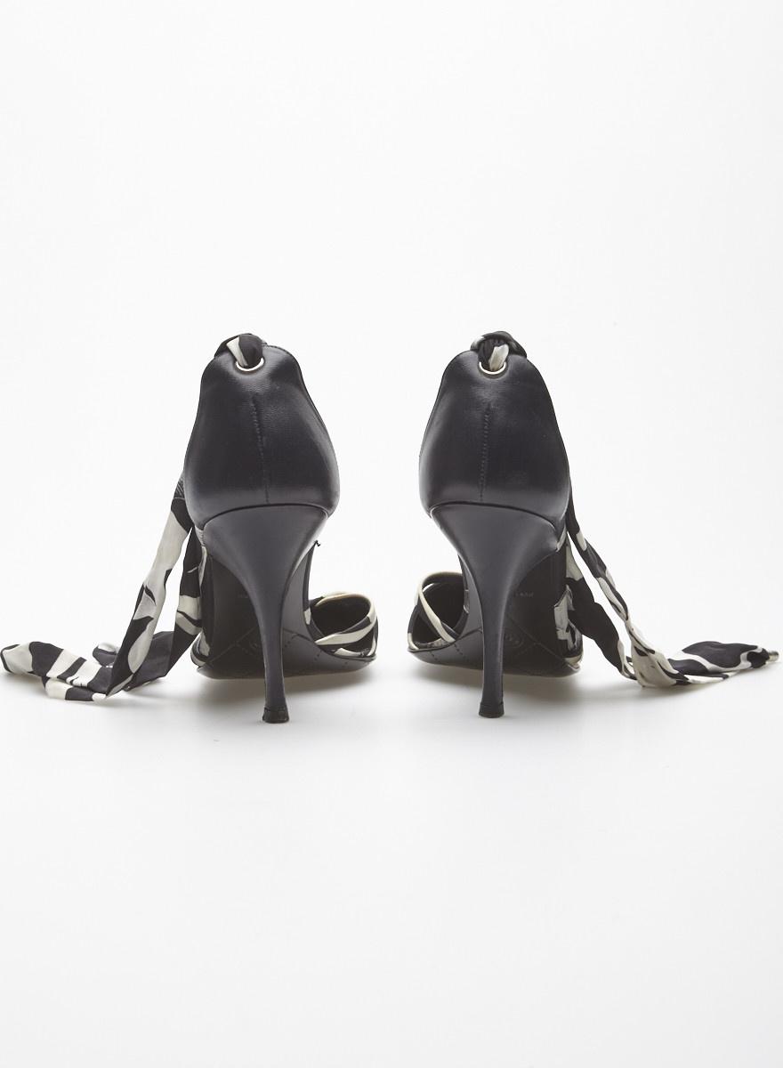 Chanel Black Leather Pumps