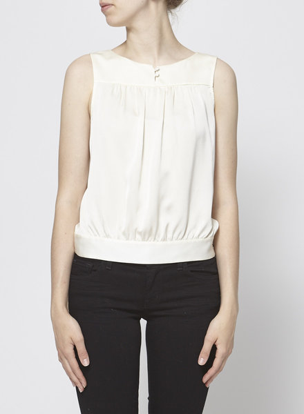 Theory OFF-WHITE SILK TOP
