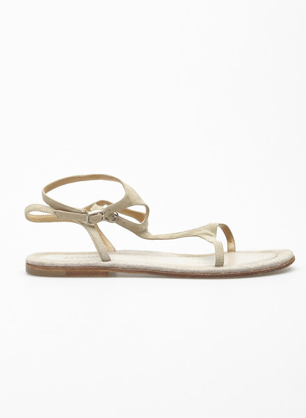 Brunello Cucinelli BEIGE LEATHER SANDALS
