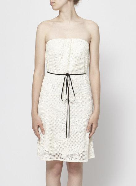 Maje SHORT WHITE LACE DRESS