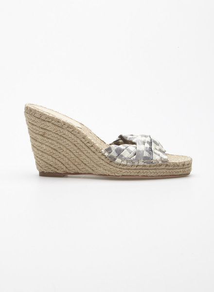 Loeffler Randall BOW WEDGE ESPADRILLE SANDALS