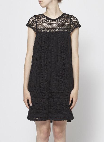 Maeve MACRAME BLACK DRESS